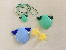Mermaid Melody Pichi Pichi Pitch Compact Shell Mirror Earring Cosplay Set Blue