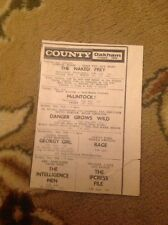 Ephemera 1967 Advert County Cinema Oakham The Naked Prey Georgy Girl M48