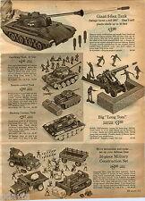 1964 ADVERT Toy 3 Foot 3' Army Tank Cap Firing German Smoking Long Tom Cannon