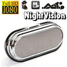 Full HD 1080P Hidden Pinhole Camera Alarm Clock DVR Motion Detect Remote Control