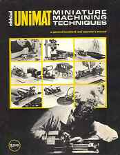 Unimat Lathe Miniature Machining Techniques Manual PDF Format emailed to Buyer