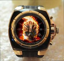 The Fireball Ghost Skull Rider Commando Army Style Chunky Gift Wrist Watch