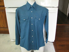 Block Buster brand men's western shirt pearl buttons 1950's vintage