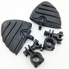 """Clamps 1"""" 1 1/4"""" Highway WING Large Foot pegs For YAMAHA V-STAR XVS XV"""