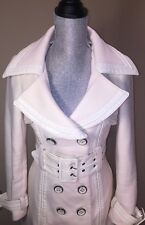 Sold Out Bebe Cream Belted Button Peacoat With Pockets Medium