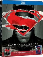 Batman V Superman: Dawn of Justice (STEELBOOK)(Blu-ray 3D + Blu-ray)(2 DISC) NEW