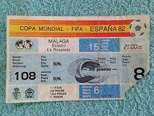 1982 - ORIGINAL WORLD CUP MATCH TICKET - SCOTLAND v NEW ZEALAND - MATCH 6