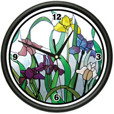STAINED GLASS Wall Clock home kitchen bathroom decor