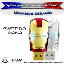 Clé USB 256 Go 2.0 Avengers Iron Man 3 Memory Stick Flash Pen Drive 256 Gb