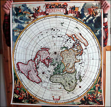"Flat Earth Map - Nieuw Aerdsch Pleyn"" Jacobus Robijn 1700 - Replica PVC Print"