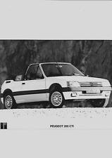 """PEUGEOT 205 CTI AUTO PRESS PHOTO """"BROCHURE DI VENDITA correlati"""""""