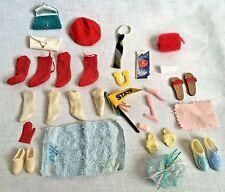 Vintage Barbie Ken Lot Socks Purses Shoes Map Tie Comb Brush Towel Muff Soap