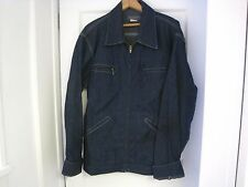 Vintage Men's OSHKOSH B'GOSH Dark Blue Union Made Denim Jacket Coat Size 42 Long