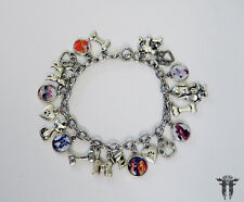 Lady and the Tramp Disney Inspired Silver Plated Photo Charm Bracelet