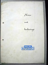 Philips Autoradio Broschüre Radioempfang im Kraftfahrzeug der 50er Jahre