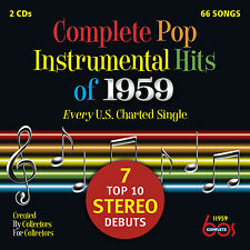 New 2CD Set Complete Pop Instrumental Hits Of 1959 21 CD Debuts 66 Total Tracks