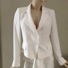 Zara Off White Blazer Jacket with Lace Cuffs Size 10