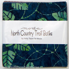 "Moda FABRIC Charm Pack ~ NORTH COUNTRY TRAIL BATIKS ~ by Holly Taylor -  5"" sq"