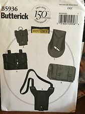 Butterick pattern 5936 Making History pouches bottle bags carriers gauntlet