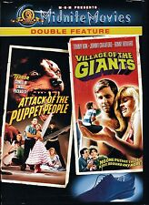 NEW MIDNITE MOVIES DVD / VILLAGE OF THE GIANTS + ATTACK OF THE PUPPET PEOPLE