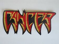 CANCER DEATH/THRASH METAL EMBROIDERED BACK PATCH