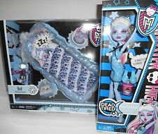 NEW Monster High Dead Tired Abbey Bominable & Bed