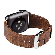 Apple Watch band, FUTLEX 42mm - Coffee Genuine Heritage Leather Strap
