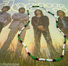 "21""Jim Morrison Style Handmade Bead Necklace Original Green White Black - Doors"
