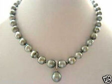 RARE High TAHITIAN PEARL NECKLACE WITH PENDANT 18inch