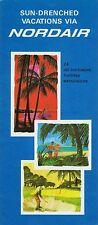 Nordair Vacation Package Brochure  1966 =
