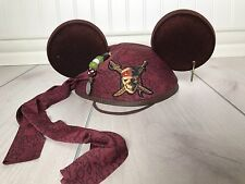Disney Parks Exclusive Pirates of Caribbean Jack Sparrow Mickey Mouse Ears