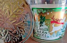 "Bath & Body Works Home ""Vanilla Bean Noel""  3 Wick 14.5 oz Scented Candle New"