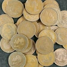 British Ha'Pennies Job Lot 50 Old Half Penny Coins From 1896 To 1967 1/2d Copper