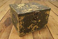 Vintage Holz Kiste Militär 60er Loft Industrie Design Truhe Hocker Sitzkasten