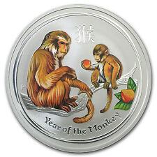 2016 Australia 1 oz Silver Lunar Monkey Colorized BU - SKU #96628