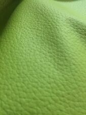 Lime Champion Grain Fake Leather Heavy Duty Vinyl Upholstery Fabric Sold BTY