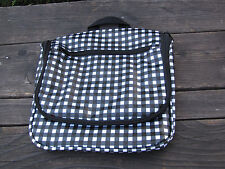 Bloomingdales Hanging Traveler Checkered Bag Cosmetic Black & White