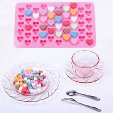 Mini 55-Hearts Silicone Chocolate Ice Mould Suger DIY Craft Mold Cake Pudding