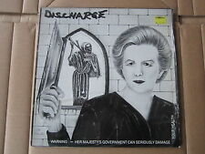 """DISCHARGE Warning EP CLAY 12"""" RARE 1983 PLATE5 UK ISSUE PUNK D BEAT EX+ COPY KBD"""