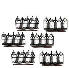 Department 56 Halloween Village SPOOKY WROUGHT IRON FENCE Set of 6 52982 Dept 56