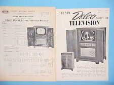 1949 UNITED MOTORS DELCO TELEVISION SERVICE SHOP REPAIR MANUAL MODEL TV-160