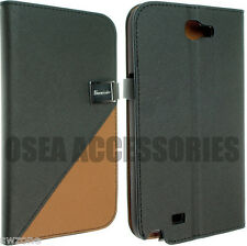 FOR SAMSUNG GALAXY NOTE II 2 N7100 LEATHER CASE COVER SKIN FLIP POUCH BACK SW