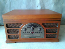 CROSLEY CR66 STEREO VINYL RECORD PLAYER, CD PLAYER, AM/FM RADIO, CASSETTE PLAYER