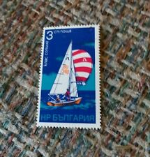 Vintage Cancelled stamp 3 CM NOWA Sailboat Knac Conuhs Unknown Foreign Country