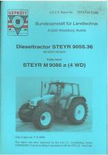 STEYR TRACTOR M 9086 a (4WD) TEST REPORT  - CASE2 *ORIGINAL*