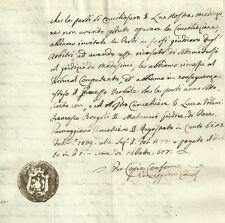 Regno d'Italia Dipartimento del Reno - Giudice di Pace di Cento 1809