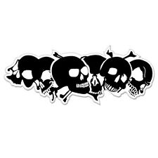"Skull Pile car bumper sticker decal 8"" x 3"""