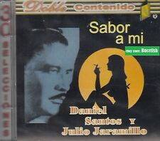 Daniel Santos y Julio Jaramillo Sabor a Mi 30 Canciones CD New Nuevo Sealed