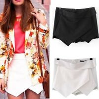 Skirt Wrap Mini Skort Irregular Laminated Flanging Stylish Short Fashion Culotte