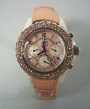 Daniel Steiger Women's Oasis Chronograph Pink Swarovski Crystal Watch ~ DS 1981
